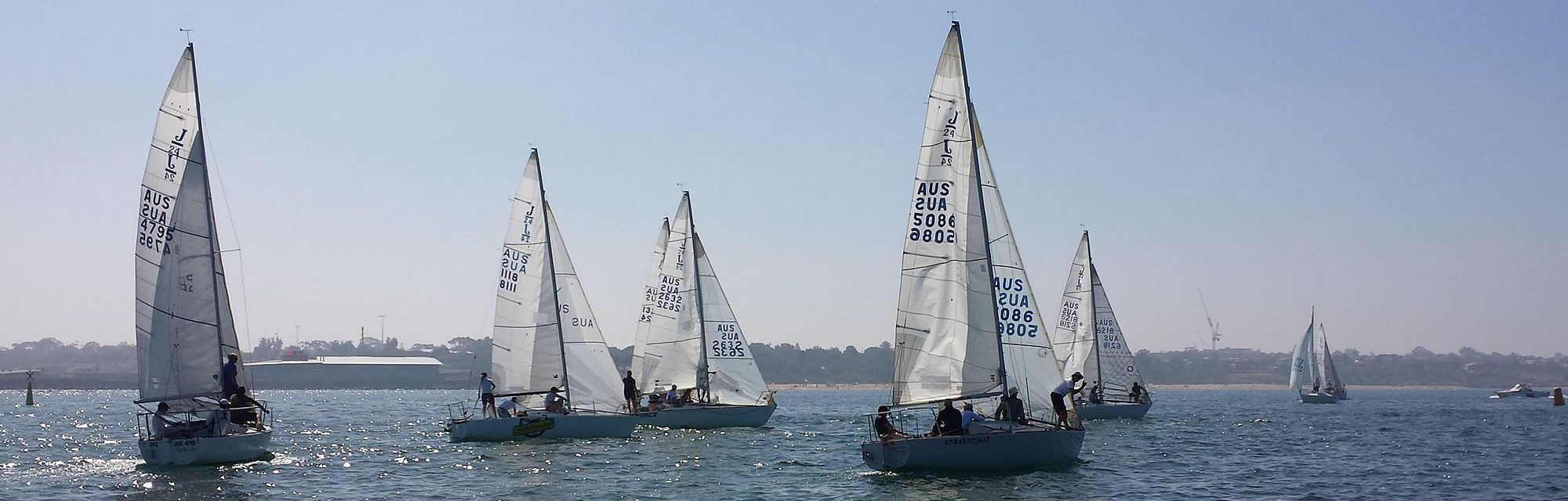 J24s Racing at Sandy
