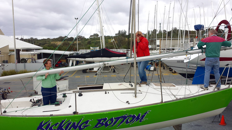 Putting your mast in - J24 Australia