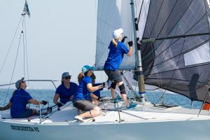 Team Bruschetta in action at the top mark