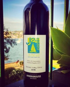 Gosford J24 Regatta 2017 prizes - The Artisan Shiraz from the Barossa Valley, specially labelled for the regatta